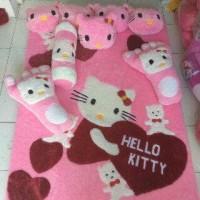 Jual Karpet Karakter Hello Kitty Full set. Murah