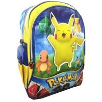 Jual Tas Ransel Sekolah Anak SD Timbul 3D Pokemon GO Pikachu Barang Murah Murah