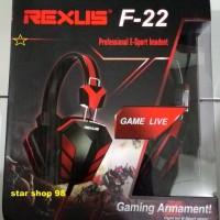 Jual (Murah) HEADPHONE GAMING REXUS F22 / Headphone with Mic Murah