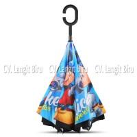 Jual Payung Terbalik MICKEY MOUSE Anak Reverse Inverted Disney Kwalik Murah