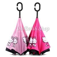 Jual Payung Terbalik Hello Kitty Karakter Sanrio. Reverse Inverted Umbrella Murah