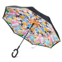 Jual Payung Terbalik TSUM TSUM DISNEY - Anak Reverse Inverted Umbrella Murah