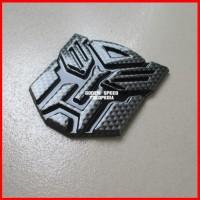 Jual (Diskon) Emblem Transformer Autobots Karbon Hitam Murah