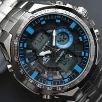 Jual Casio Edifice EFA-150 Silver List Blue KW Super Limited Murah