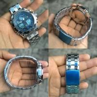 Jual Casio Edifice EFA-100 Silver List Blue KW Super Diskon Murah