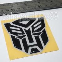 Jual Sticker MOTOR Emblem Timbul Autobot Transformer BLACK 7cm Stiker Resin Murah