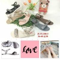Jual jelly sandal wanita barabara sepatu sendal wanita import 188-3 Murah