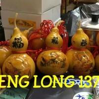 Jual (Dijamin) Pajangan Dekorasi Labu Kendi Holo (Bottle Gourd) Murah
