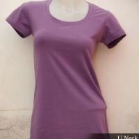Jual kaos polos babyliss cotton spandex wanita u-neck original murah jkt Murah