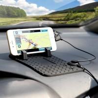 Jual (Murah) Car Holder Super Flexible + Magnetic Charging - Dashboard Mat Murah