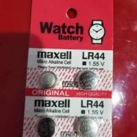 Jual batre / baterai / battery LR 44 maxell untuk jam kalkulator lampu dll Murah