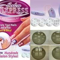 Jual SALON EXPRESS ( Nail Art kecantikan alat menggambar kuku stamping kit Murah