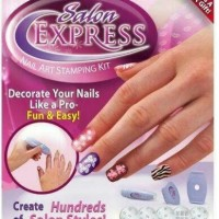 Jual Salon Express / Nail Art Stamping Kit Decorate Your Nails Like A Pro Murah