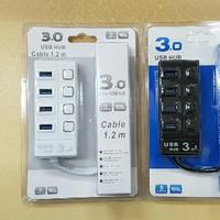 Jual USB 3.0 HUB 4 PORT KABEL PANJANG 1.2M TIPE 5067 Murah