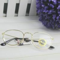 Jual (Diskon) frame kacamata bulat korea roundglasses kc174 gold Murah