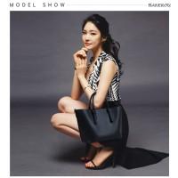 Tas Tote Bag Wanita PU Leather Import