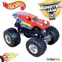 Hotwheels MONSTER JAM Team Flag - Spiderman Hot Wheels Ori Mattel
