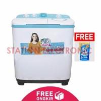 SANKEN Mesin Cuci 2 Tabung 7 5 Kg TW 9770 Putih Biru Free Shipping J