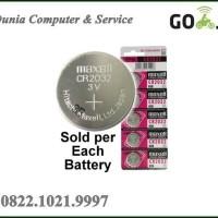 Jual Baterai CMOS / Maxell CR2032 3 Volt Coin Lithium Cell Battery - CR20  Murah