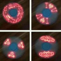 (Sale) Fidget Spinner Lampu gambar Bergerak on oFF