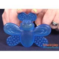 (Pink Biru) Sassy Water Filled Teethers, Gigitan Mainan Bayi 3 Bulan