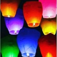 Jual (Sale) Sky Lantern / Lampion Terbang Berwarna Murah
