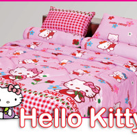 Jual Sprei Duo ( 2 in 1 ) Fata Signature Uk.120 X 200 Motif Hello Kitty Murah