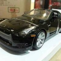 Jual Miniatur Mobil Nissan GT R 2009 Hitam Diecast Maisto 1 24 Murah