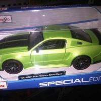 Jual Miniatur Mobil Ford Mustang 2014 Street Racer Hijau Maisto 1 24 Murah