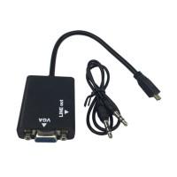 Jual limited Kabel Converter Micro HDMI to VGA + Audio Cable Converter Murah
