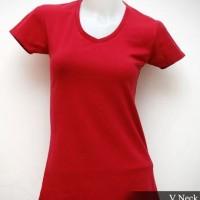 Jual kaos polos babyliss cotton spandex wanita v-neck original murah jakart Murah
