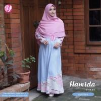 Terlaris Gamis Yasmeera Hamida Dress Light Blue - baju muslim wanita