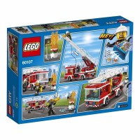 LEGO City 60107 Fire Ladder Truck Set Building Toy Firefighter Polic