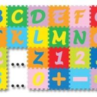 Jual Karpet Puzzle Evamat Abjad Mini / Angka dan simbol / Alas bermain Anak Murah