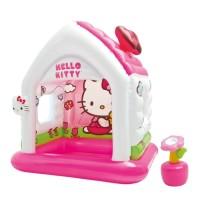 Jual SALE Mainan Rumah Balon INTEX FUN COTTAGE HELLO KITTY - 48631 Murah