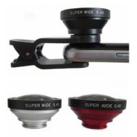Jual (Dijamin) super wide lens 0.4 x / SUPERWIDE 0,4x Lensa jepit Murah