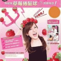 Jual Magic Strawberry Roll Sponge Hair Curler (1 Pack = 6 Pcs) - Ikal Murah