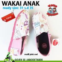 Jual sepatu wakai anak motif pink owl wakai anak murah Murah