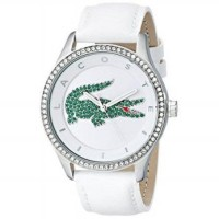 Lacoste Women 2000893 Victoria Stainless Steel Watch With White Leat