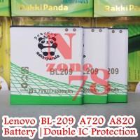 BATTERY LENOVO BL209 A820 A706 DOUBLE POWER PROTECTION