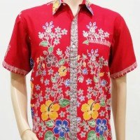 Kemeja / Hem / Atasan / Baju / Seragam Pria Batik Murah 2131 Merah