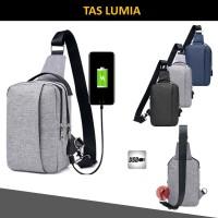Tas USB Selempang Pria Import - LUMIA-