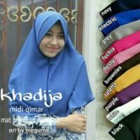 Hijab Premium Khadija Khimar / Khimar Pet (besar) Denim Supernova