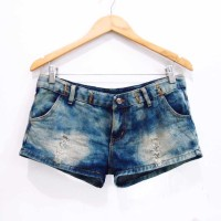 Jual BX215 SIZE L OMBRE JEANS RIPPED HOTPANTS SEXY IMPORT SECONG MURAH Murah