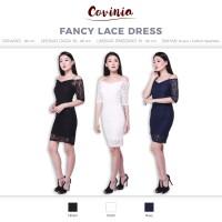 CRG171308 - Fancy Lace Dress Brukat Sabrina Bodycon Dres Brokat V sabr