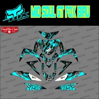 Sticker striping motor stiker Yamaha Mio Soul GT FOX BIRU Spec A
