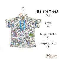 atasan batik anak murah B11017003BRU / blus batik grosir modern