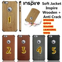 Jual GROSIR ANTI CRACK WOODEN INSPIRE IPHONE 5 6 A39 A57 F1S F3 NEO 7 NEO 9 Murah