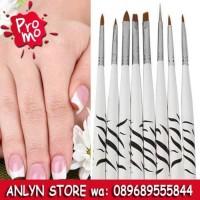 Jual 813 -Brush Kutek Kuku Zebra Nail Art 8PCS Murah