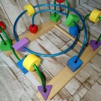 mainan edukasi anak- motorik kawat 3 alur- wire game